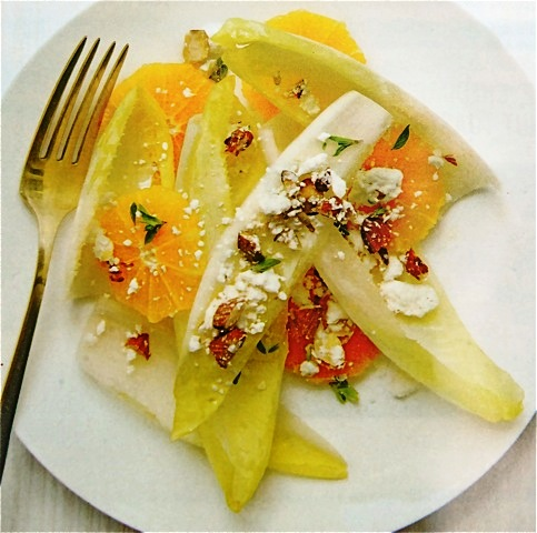 ENDIVE AND TANGERINE SALAD WITH ALMONDS AND FETA | Discover Endive: a ...
