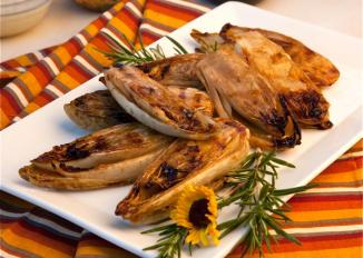 Grilled Endive with Rosemary Marinade