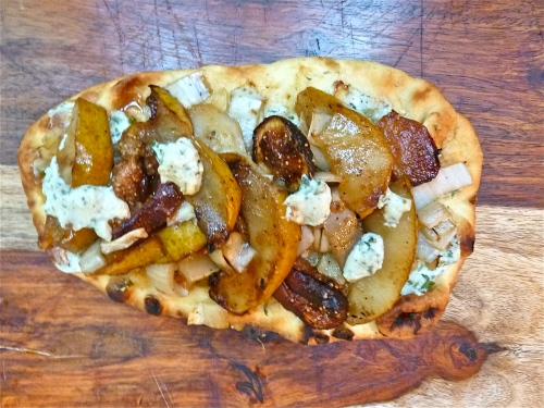 Grilled Pear, Fig and Endive Flatbread