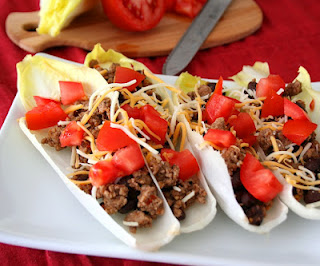 Turkey Taco Endive Boats from Carolyn of All Day I Dream About Food
