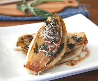 Caramelized Endive with Brown Butter Sage Sauce from Carolyn of All Day I Dream About Food