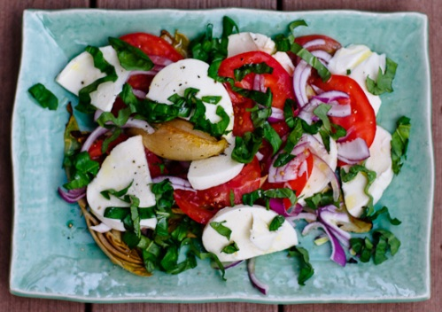 Grilled Endive Caprese Salad from Winnie of Healthy Green Kitchen