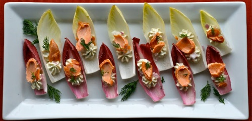 Neufchâtel and Smoked Salmon Boats from Jaymee of E is for Eat